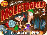 Flash игра Финес и Ферб к центру земли