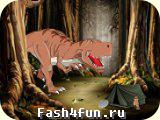 Flash игра Спасение от динозавра